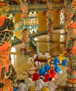 Temple Cao Dai au Viet Nam.