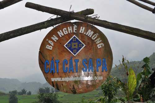 L\'entrée du village Cát Cát.