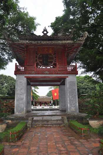Khuê Văn Các (Pavillon de la pléiade) du Temple de la Littérature, un symbole de Hà nội.