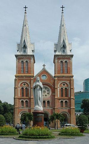 La cathédrale Notre-Dame de Saïgon.