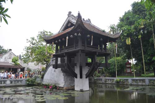 La pagode à pilier unique.