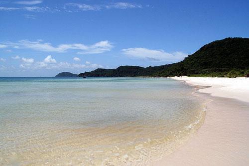 La plage Sao, une des plus belles plages de l'île de Phú Quốc.