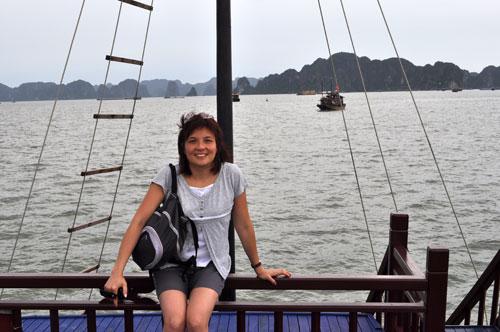Sur la baie d\'Hạ Long.