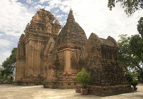 Les tours Cham de Po Nagar à Nha Trang (Vietnam).