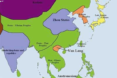 Le premier royaume du Vietnam appelé Van Lang est situé dans le delta du Fleuve Rouge.