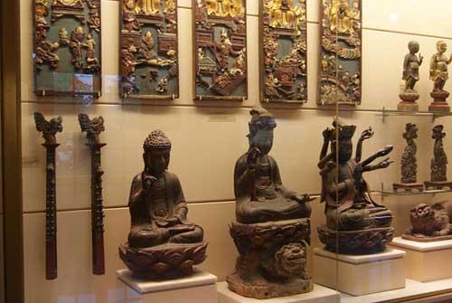 Des pièces d'art en bois du 17ème et du 18ème siècle.