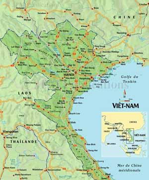 Carte Nord Vietnam