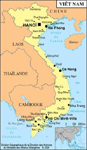 Une carte géographique du Vietnam : Ce qu'il vous faut pour réussir votre voyage