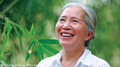 Docteur Diệp Thị Mỹ Hạnh, directrice du village de bambou Phú An.
