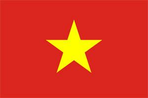 Drapeau actuel du Vietnam.