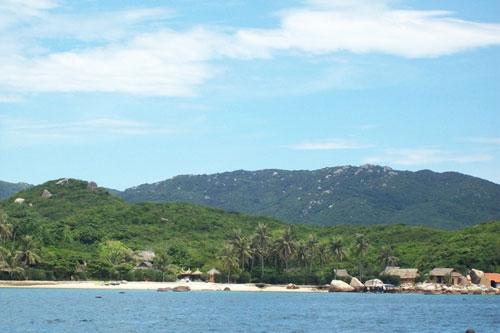 Une plage de l'île de la Baleine.